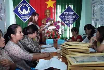 Hội nghị Cán bộ, Công chức, Viên chức Trường MG Búp Sen Hồng năm học 2020 – 2021